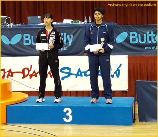 Amazing Archana wins Bronze in Spanish Junior TT Open