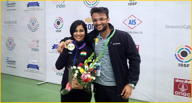 Heena wins Gold in Asian Olympic qualification, secures Olympic quota
