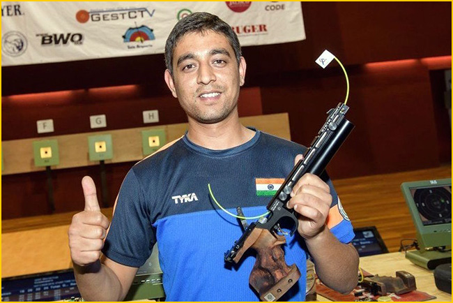 Shahzar Rizvi becomes World No.1 in Shooting 10m Air Pistol