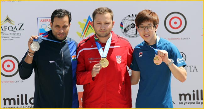 Superb Silver for Sanjeev at the Baku World Cup